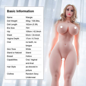 5.3ft Lifelike Sex Doll Wangie