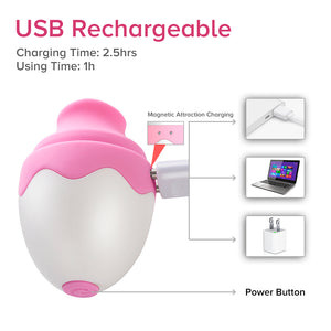 Lovely Clitoral Tongue Vibrator Egg for Clitoral Orgasm, Pink