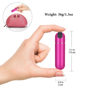 Powerful Rechargeable Bullet Vibrator, Pink