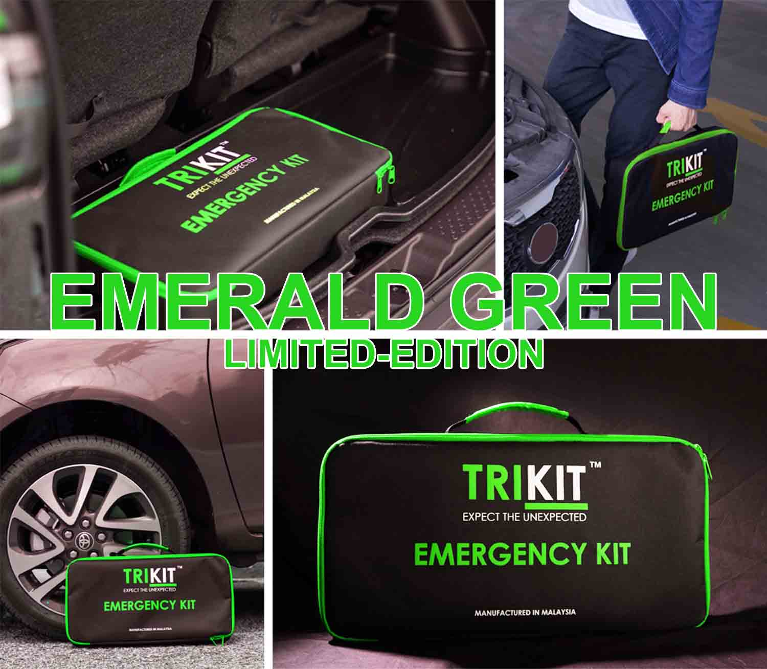 TRIKIT EMERGENCY KIT BAG ANTI SLIP EMERALD GREEN