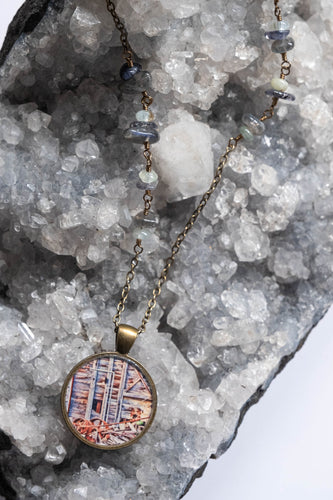 Exposed Mine Wall Photo Necklace