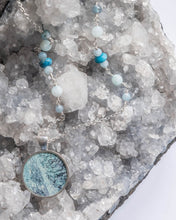 Icy Blue Glacier Photo Necklace