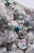 Blue Mine Window Photo Necklace