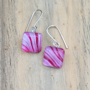 Peppermint Stipe #2 Photo Earring