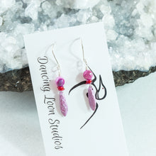Bright Pink and Red Drop Earrings