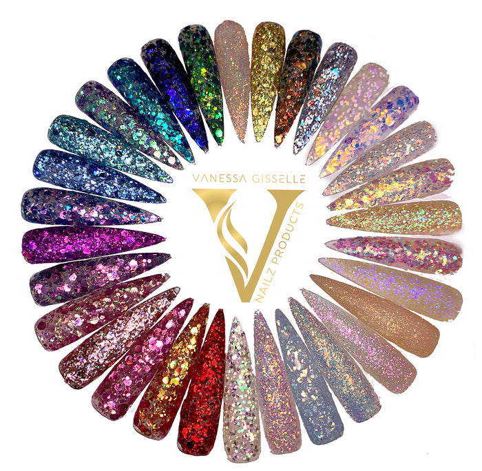 GLITTER COLLECTION-31pcs