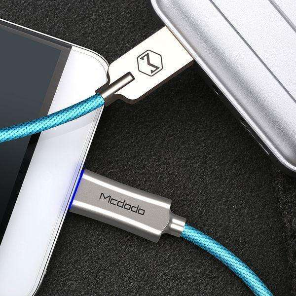 Premium Type-C Data Cable | Auto Disconnect | Quick Charge 3.0 | 1.0 m,USB Cable,Blue,Wedyut.