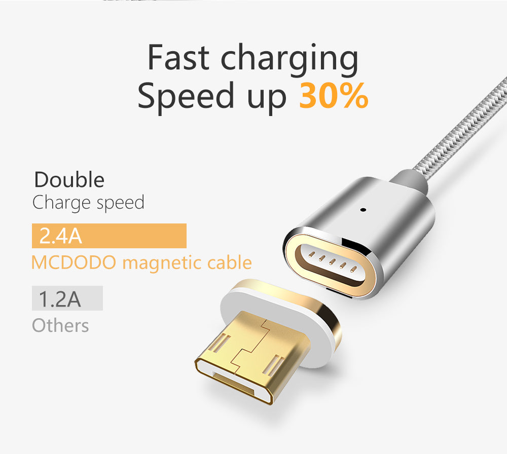 Magnetic Data cable USB to Micro USB (1.2 Meter)