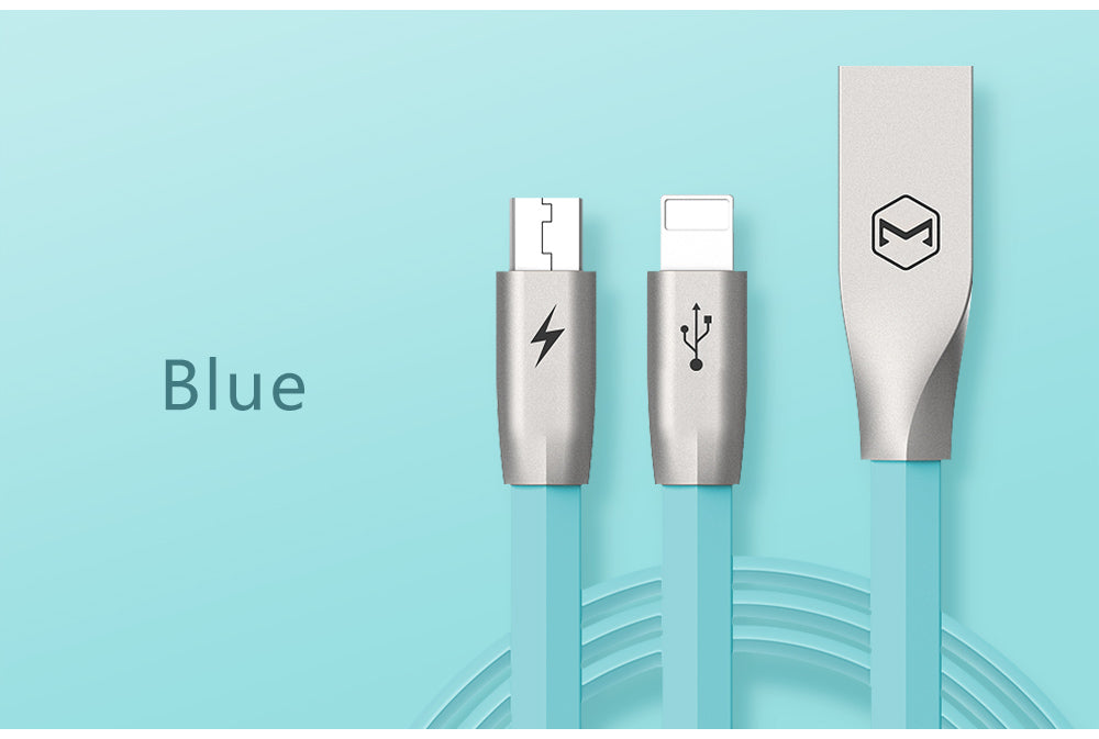 Mcdodo Data Cable | 2 in 1 | Lightning + Micro USB | 1.2 m