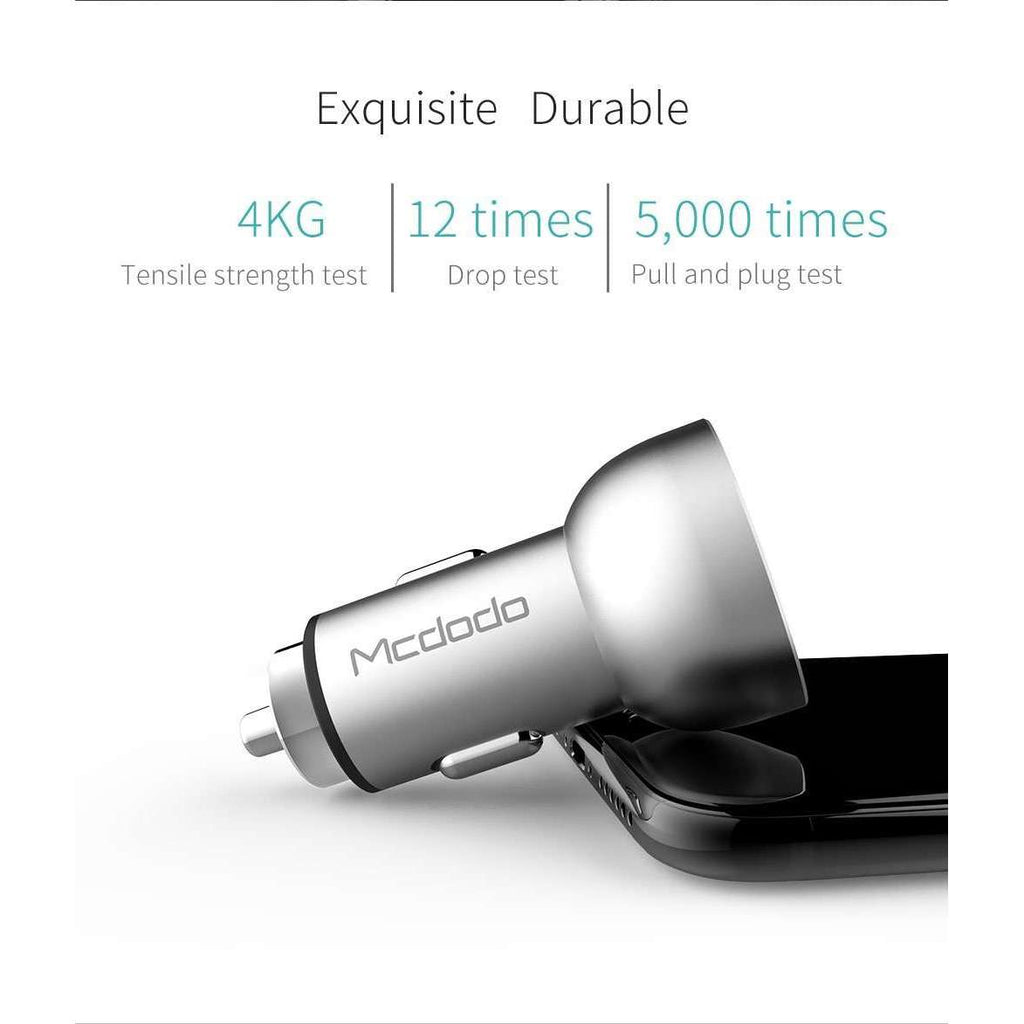 Car Charger | Digital Display | Dual USB Ports | 5V, 3.4A,Car Charger,Wedyut.