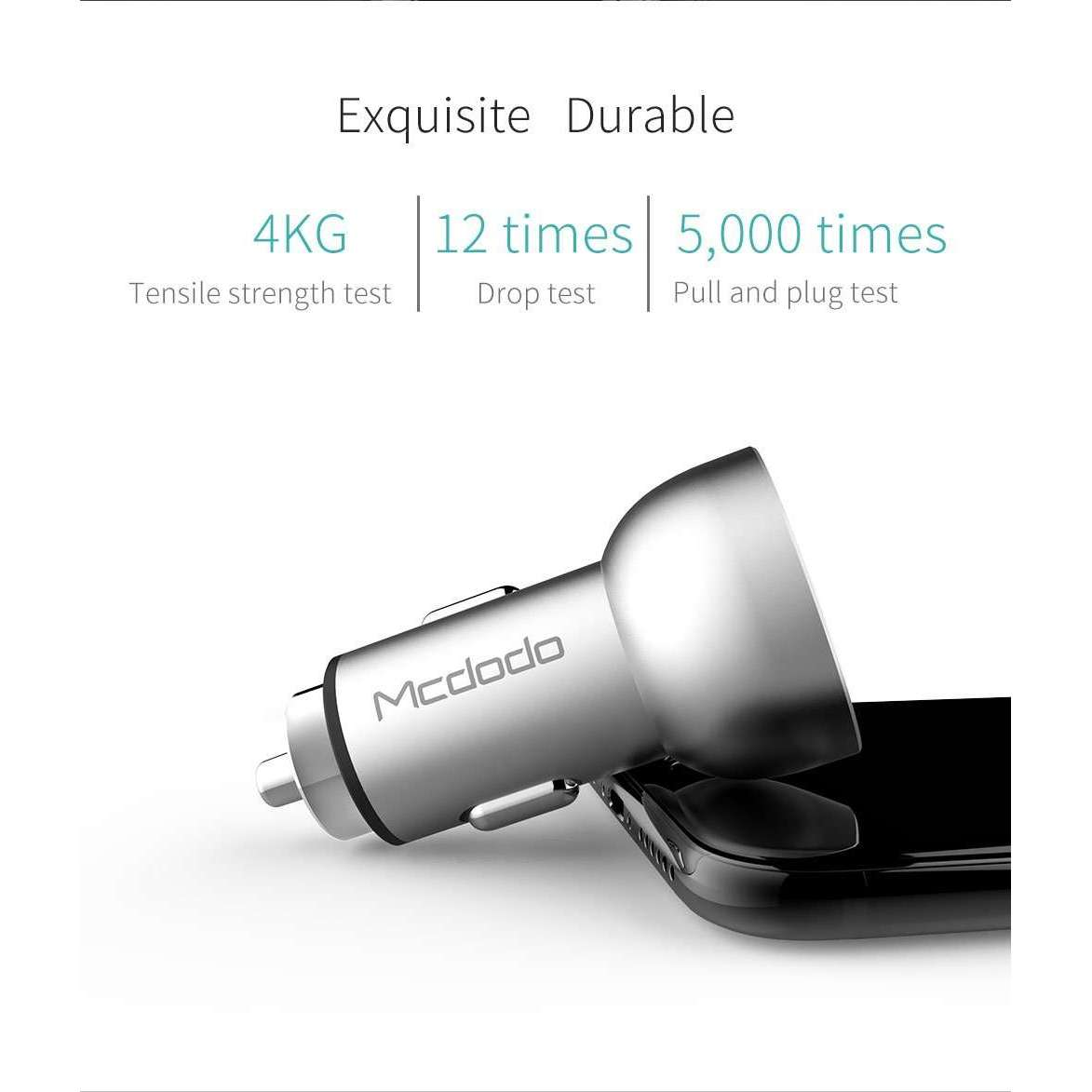 Mcdodo Car Charger | Digital Display | Dual USB Ports | 5V, 3.4A