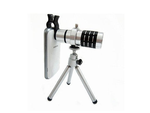 Universal Clip | 12x Telescope lens | with Tripod | Android and iPhone