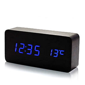 LED Wood Car Digital Electronic Clock for Car