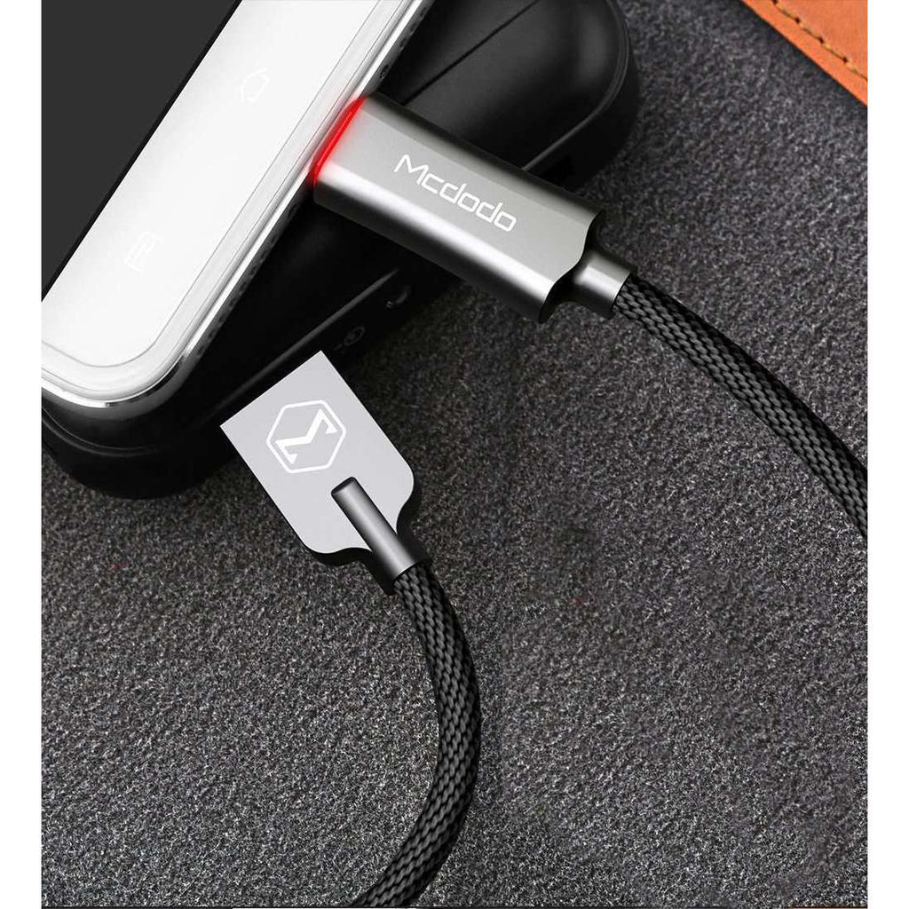 Premium Micro USB Data Cable | Auto Disconnect | Quick Charge 3.0 | 1.0 m,USB Cable,Grey,Wedyut.