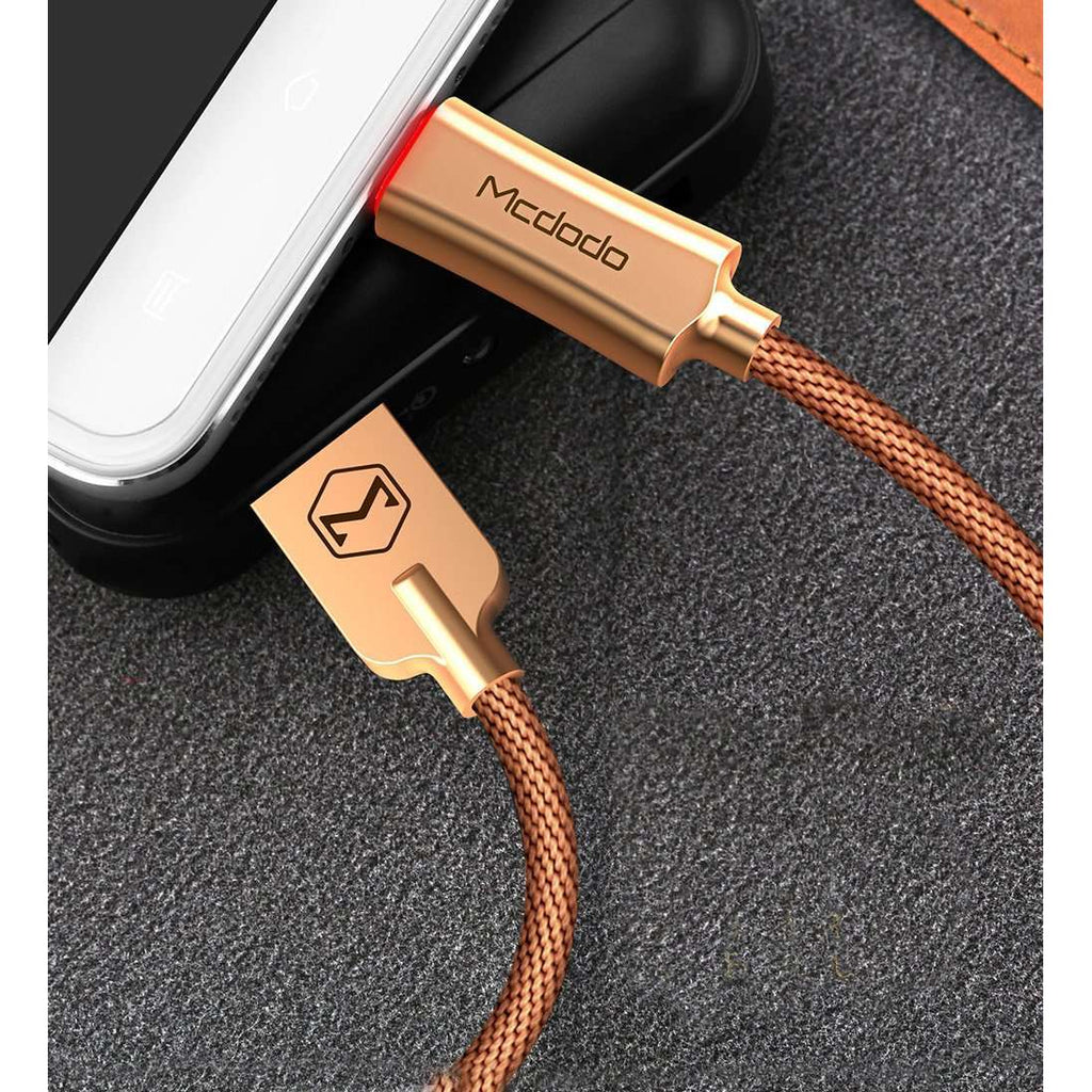 Premium Micro USB Data Cable | Auto Disconnect | Quick Charge 3.0 | 1.0 m,USB Cable,Gold,Wedyut.
