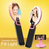 Selfie flash light with Mirror and PVC makeup bag travel