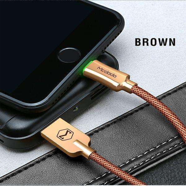 Premium Lightning Data Cable | Auto Disconnect,USB Cable,1.2 m / Gold,Wedyut.