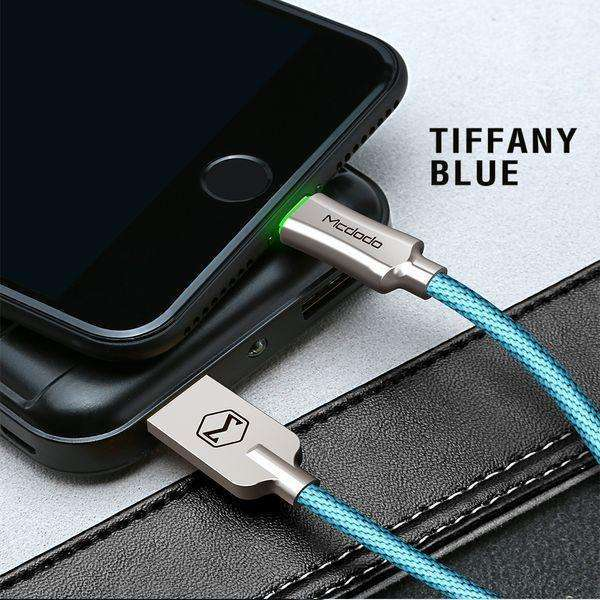 Premium Lightning Data Cable | Auto Disconnect,USB Cable,1.2 m / Blue,Wedyut.