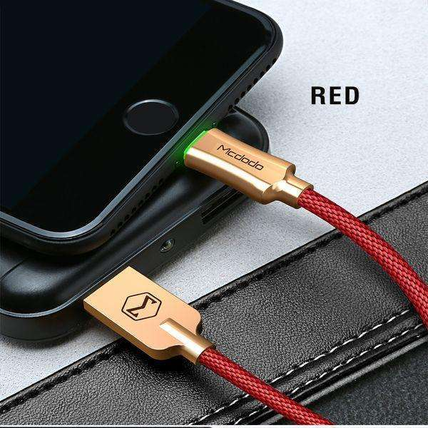 Premium Lightning Data Cable | Auto Disconnect,USB Cable,1.2 m / Red,Wedyut.