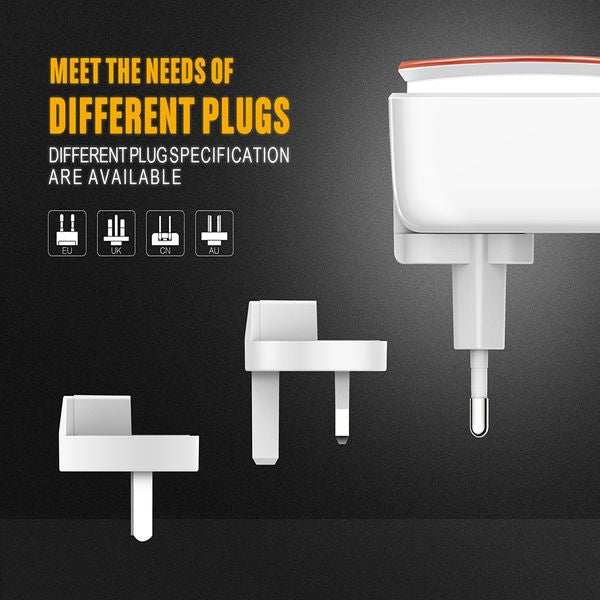 LDNIO USB Travel Charger | Touch pad LED Night light | 3 Mode Light | 3 Port USB | Fast Charging | Micro USB (MU) Andriod Phones | Lightning (LT) iPhones