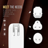 USB Travel Charger | Touch pad LED Night Light | 3 Mode Light | 4 Port USB | Fast Charging