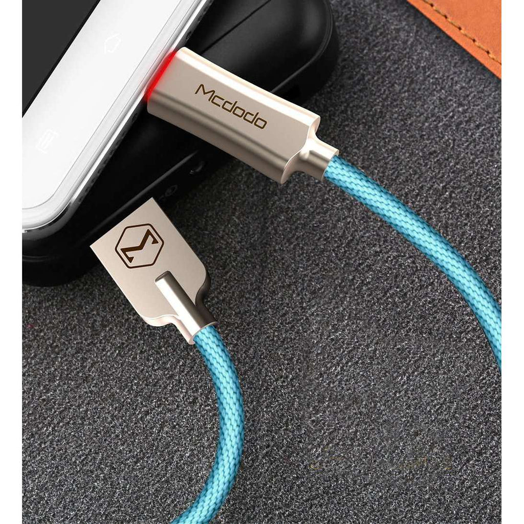 Premium Micro USB Data Cable | Auto Disconnect | Quick Charge 3.0 | 1.0 m,USB Cable,Blue,Wedyut.