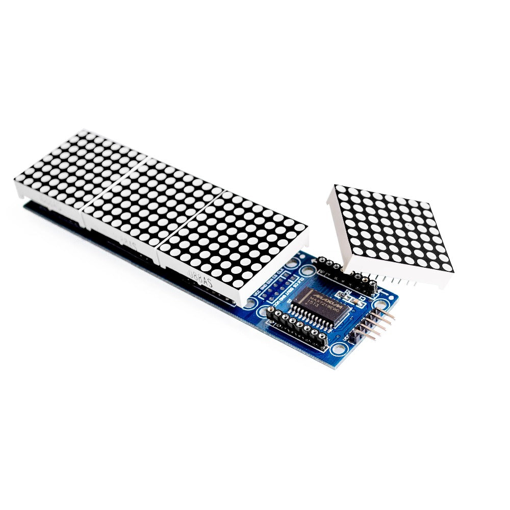 MAX7219 Dot Led Matrix Module 4 In 1 Display with 5P Line Module For Arduino Micro-controller