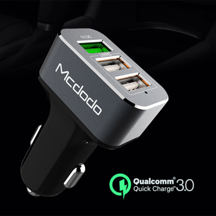 Mcdodo Car Charger | Three USB ports | Quick Charge 3.0+3.4A