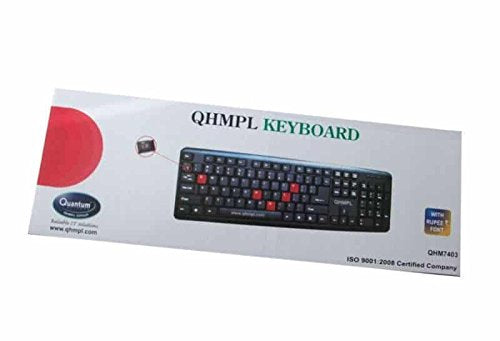 Quantum QHM7403 USB/PS2 Keyboard (Black)