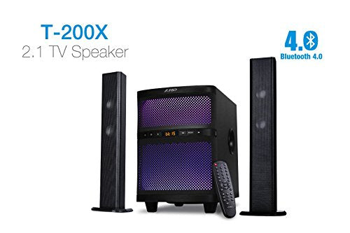 F&D T-200X 70 W Bluetooth Home Audio Speaker  (Black, 2.1 Channel)