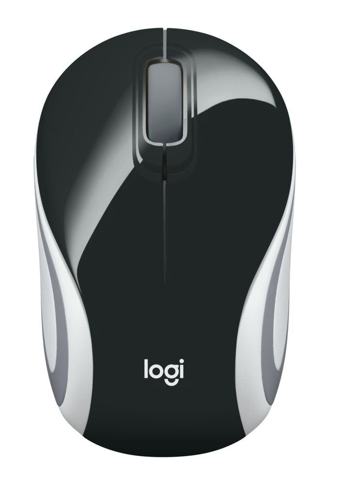 Logitech M187 Wireless Mini Mouse (Black)
