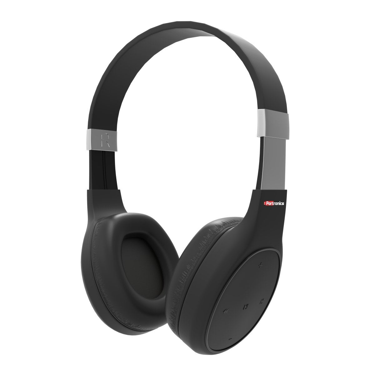 Portronics POR-762 Muffs Plus Wireless Bluetooth Headphone With AUX Port ( Black)