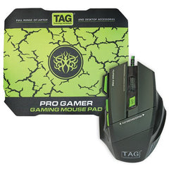 TAG 7D PRO Gaming Mouse and Pad - 7 Buttons