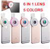 Universal LED for all smartphone | 6 in 1 Selfie lens | LED fisheye + wide angle