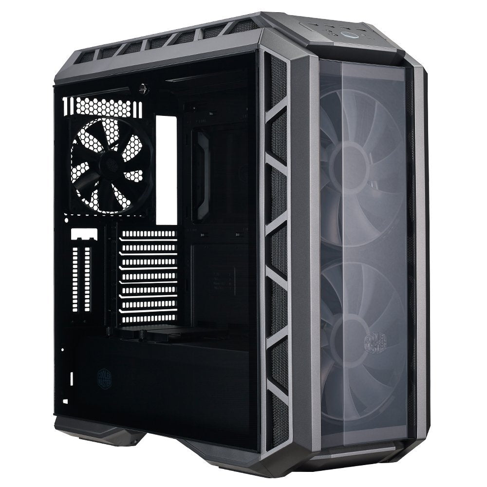 Cooler Master MasterCase H500P ATX Mid-Tower Case with Two 200mm RGB Fans In The Front and Tempered Glass Side Panel Cases