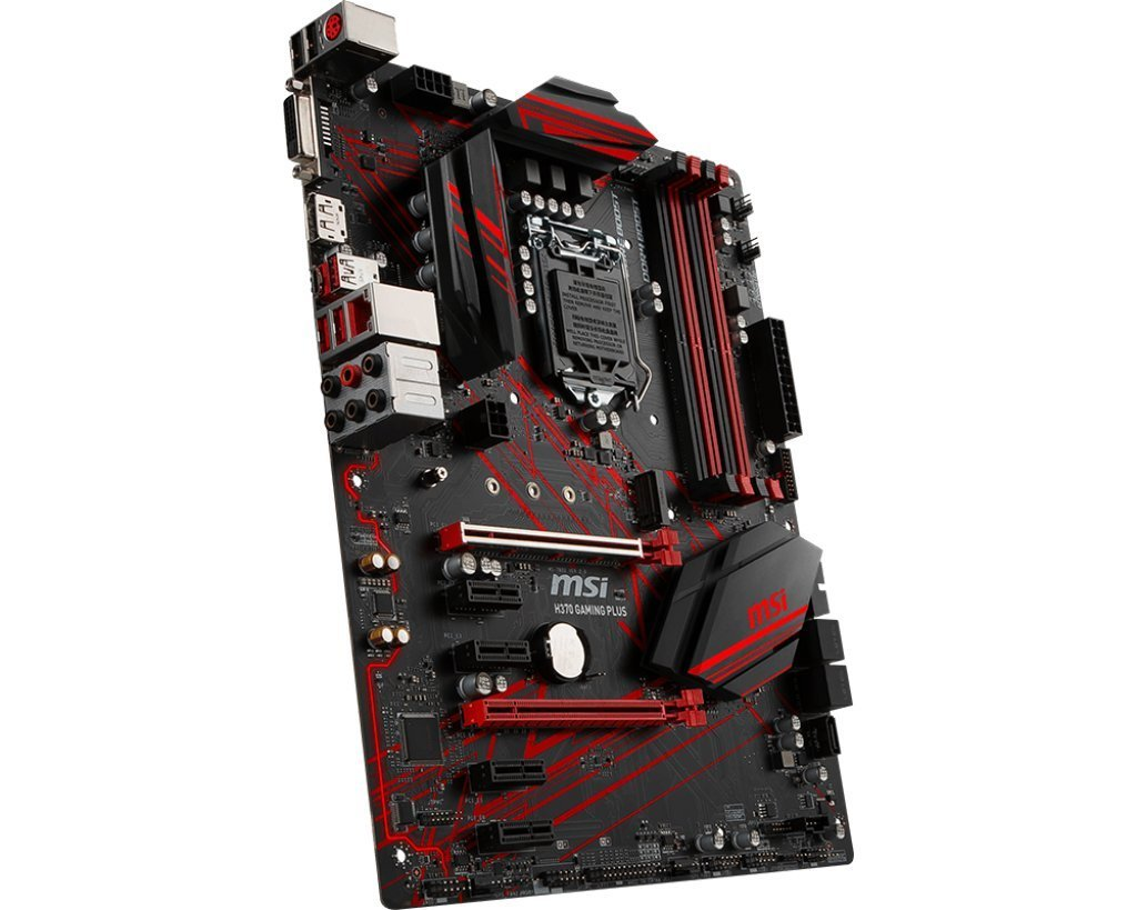 MSI H370 GAMING PLUS Performance Gaming Intel Coffee Lake LGA 1151 DDR4 VR Ready Onboard Graphics CFX ATX Motherboard