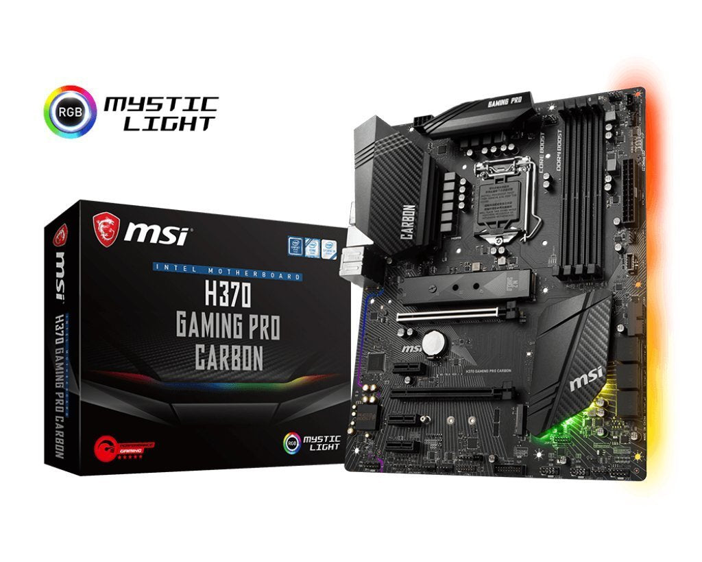 MSI H370 GAMING PRO CARBON Performance Gaming Intel Coffee Lake LGA 1151 DDR4 VR Ready Onboard Graphics CFX ATX Motherboard