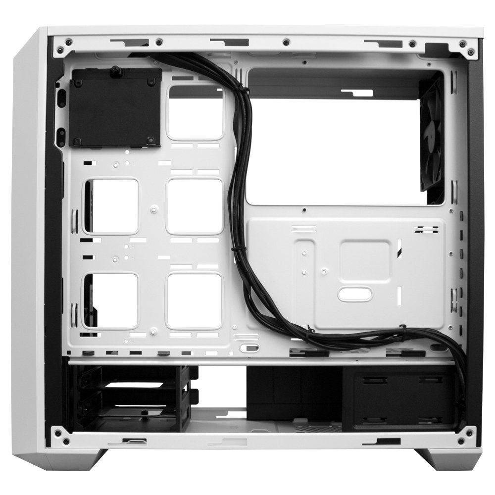 MasterBox 5 Black & White Mid-tower with Internal Configuration, E-ATX Support, and Nine SSD mount positions