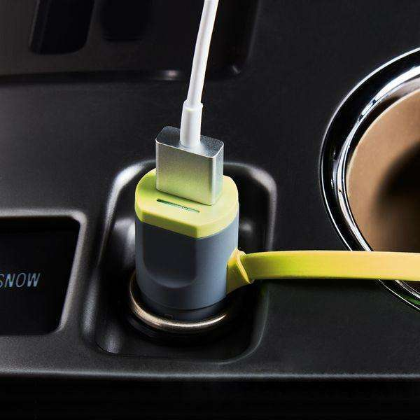 Car Charger | 3 in 1 | Mirco USB + Lightning + USB AF | Lighter Socket | 1.0 m,Car Charger,Wedyut.