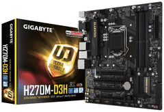 GIGABYTE GA-H270M-D3H LGA1151 Intel Micro ATX 2-Way Crossfire DDR4 USB 3.0 M.2 Smart Fan 5 Motherboard