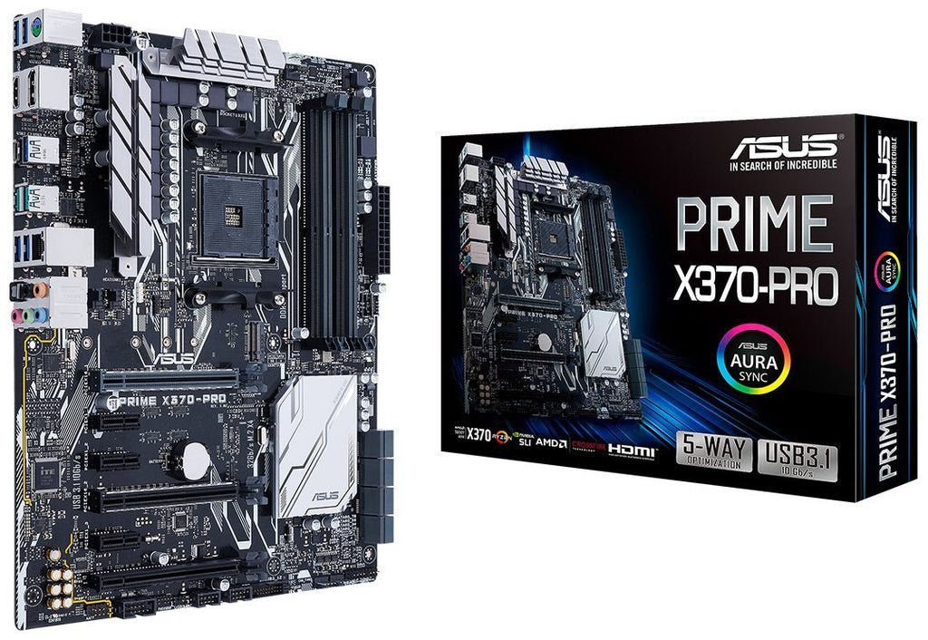 Asus Prime X370-PRO AMD AM4 ATX Motherboard With Aura Sync