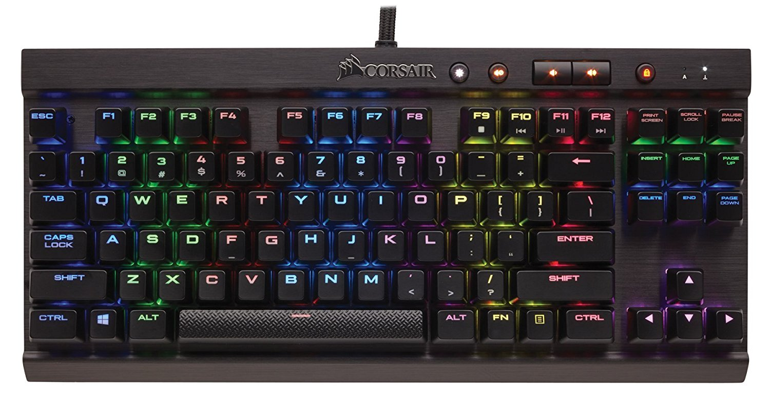 Corsair Gaming K65 LUX RGB Compact Mechanical Keyboard, Backlit RGB LED, Cherry MX RGB Red