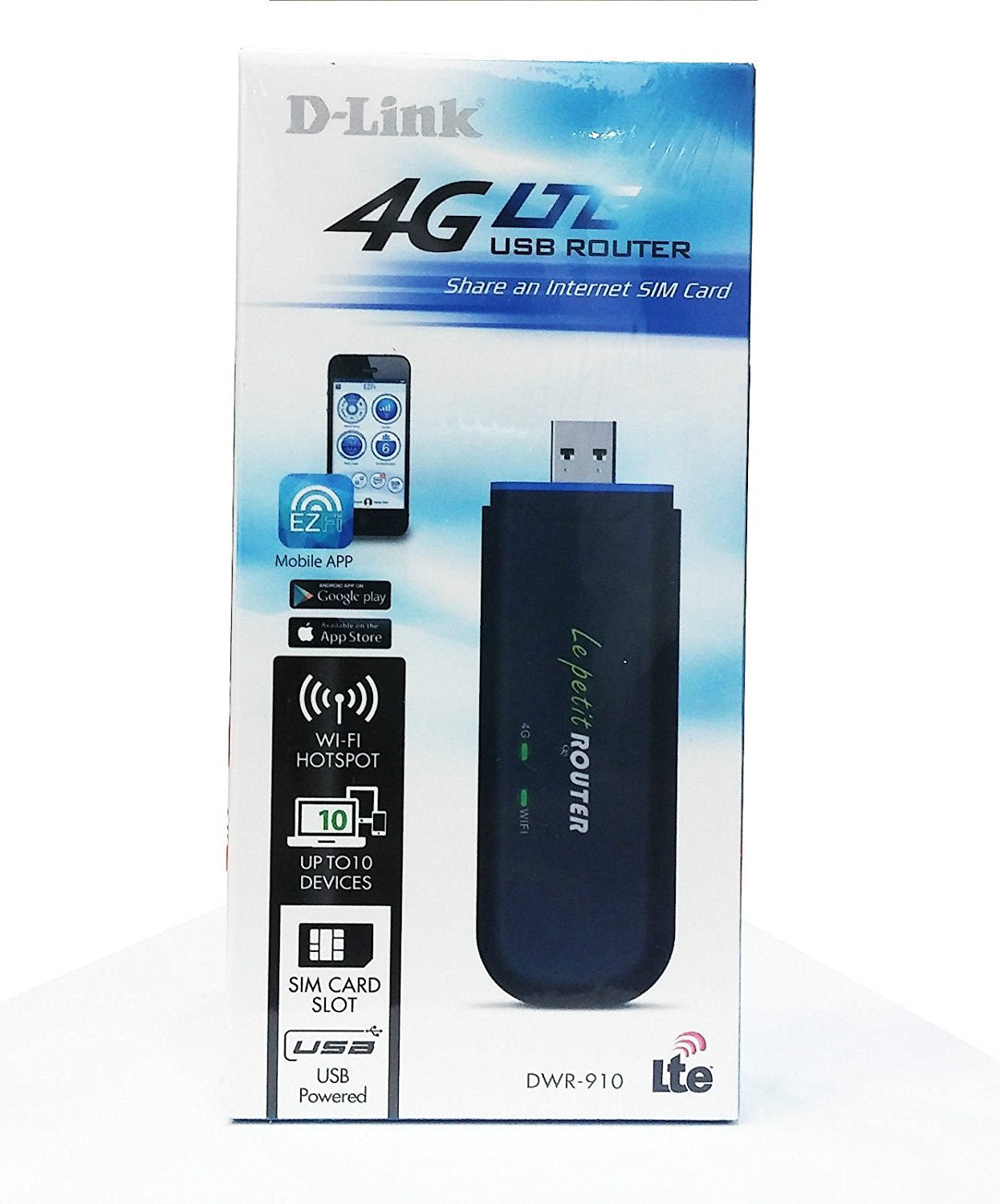 D-Link 4G LTE WIRELESS USB ROUTER DWR-910