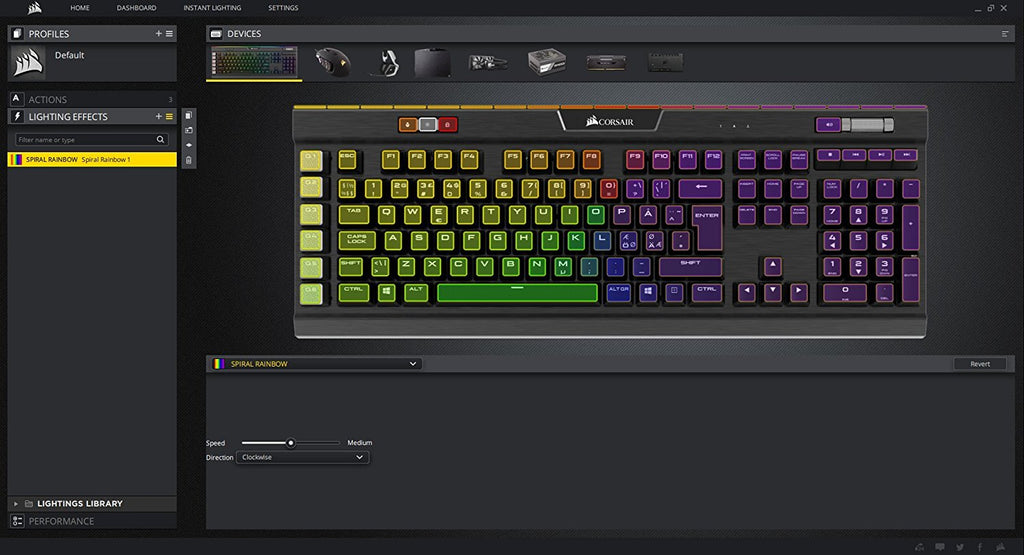 Corsair Gaming K70 LUX RGB Mechanical Gaming Keyboard, Backlit RGB LED, Cherry MX RGB Red