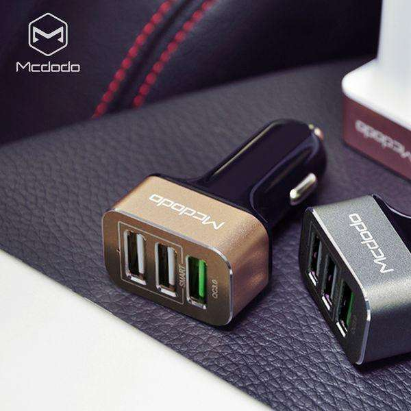 Car Charger | Three USB ports | Quick Charge 3.0+3.4A,Car Charger,Gold,Wedyut.