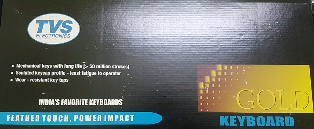 TVS GOLD USB Bharat wired keyboard