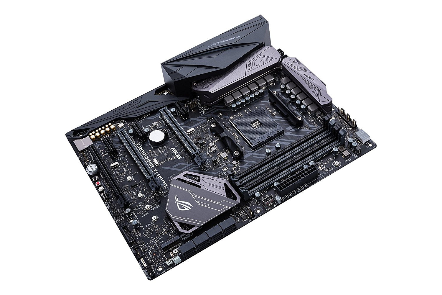 Asus ROG CROSSHAIR VI HERO AMD X370 ATX Gaming motherboard with Aura Sync RGB LEDs, DDR4 3200MHz, M.2, USB 3.1 front-panel connector and type-A/C