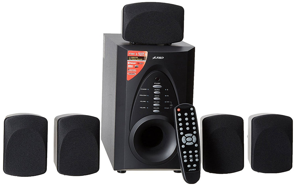 F&D 5.1 Channel 700X Speaker (Black)