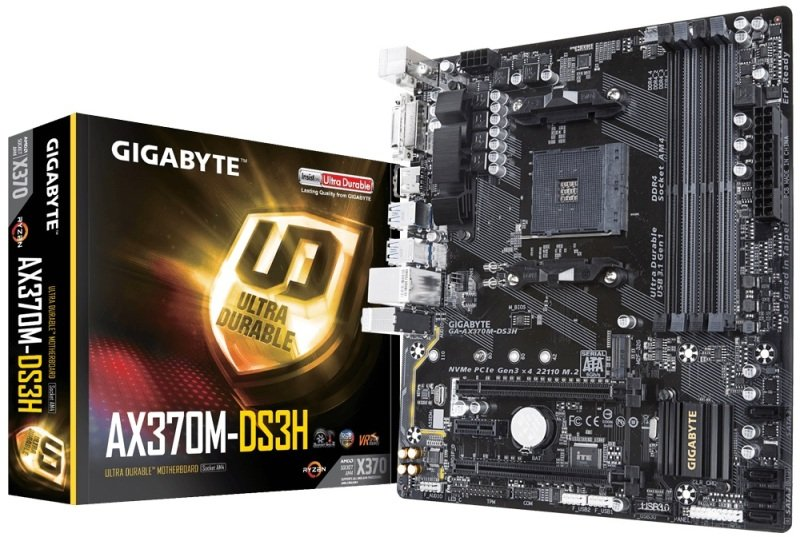 Gigabyte AX370M-DS3H AM4 DDR4 mATX Motherboard
