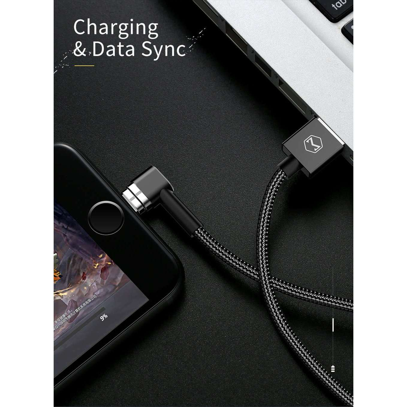 Mcdodo Magnetic Cable 90degree 3 In 1 Lightning